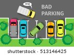 city parking vector web banner. ... | Shutterstock .eps vector #513146425