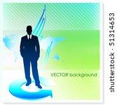 businessman on vector... | Shutterstock .eps vector #51314653