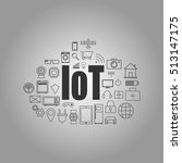 internet of things and smart... | Shutterstock .eps vector #513147175
