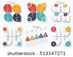 set with infographics. data and ... | Shutterstock .eps vector #513147271