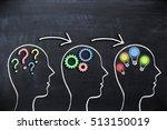 brainstorming concept on... | Shutterstock . vector #513150019