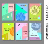 set of artistic colorful... | Shutterstock .eps vector #513157114