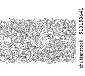 seamless pattern with  floral ... | Shutterstock .eps vector #513158641