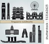 singapore v2  landmarks and...   Shutterstock .eps vector #513162625