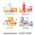 different traditional dairy... | Shutterstock .eps vector #513171505