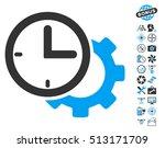 time setup gear icon with bonus ...