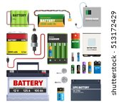 Set Of Batteries. Primary Cell...
