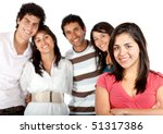 girl in front of a group of... | Shutterstock . vector #51317386