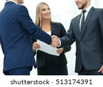 business partner greeting each... | Shutterstock . vector #513174391