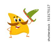 smiling nachos with thick... | Shutterstock .eps vector #513175117