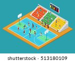 isometric basketball playground ... | Shutterstock .eps vector #513180109