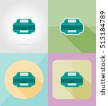 service printer flat icons... | Shutterstock . vector #513184789