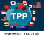 collapse of tpp trans pacific... | Shutterstock .eps vector #513185401