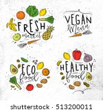 labels eco style decorated by... | Shutterstock .eps vector #513200011