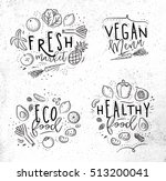 labels eco style decorated by... | Shutterstock .eps vector #513200041