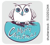 Owl. Vector Illustration.