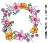 Wildflower Hibiscus Wreath In ...