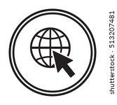 website  icon  vector. flat... | Shutterstock .eps vector #513207481