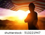 Silhouette Of Soldier On The...