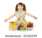 a little girl with a big heap... | Shutterstock . vector #51322255