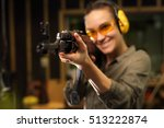 shooting at the shooting range... | Shutterstock . vector #513222874