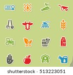 agricultural web icons on color ... | Shutterstock .eps vector #513223051