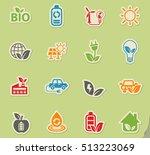 alternative energy web icons on ... | Shutterstock .eps vector #513223069