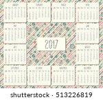 year 2017 vector monthly...   Shutterstock .eps vector #513226819