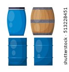 vector set casks on a white... | Shutterstock .eps vector #513228451