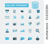 online payment icons | Shutterstock .eps vector #513232381