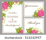 invitation with floral... | Shutterstock . vector #513232957