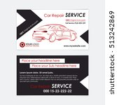 auto repair business card... | Shutterstock .eps vector #513242869