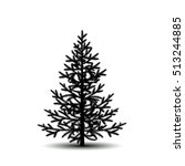 silhouette tree spruce with... | Shutterstock .eps vector #513244885