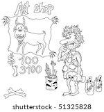 prehistoric artist prepares his ... | Shutterstock .eps vector #51325828