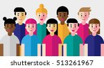vector illustration of group of ... | Shutterstock .eps vector #513261967