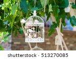 wedding ceremony decor | Shutterstock . vector #513270085