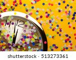 clock and party decorations   Shutterstock . vector #513273361