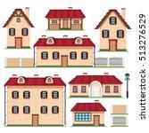 vector set. buildings.