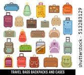 travel bags backpacks and cases ...   Shutterstock . vector #513283129