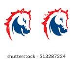 mustang sport mascot. horse...   Shutterstock .eps vector #513287224