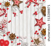 abstract christmas background ... | Shutterstock .eps vector #513288871