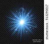 vector blue light effect....   Shutterstock .eps vector #513290017