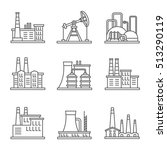 heavy industry power plant and... | Shutterstock . vector #513290119