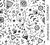seamless pattern with beautiful ... | Shutterstock .eps vector #513294067