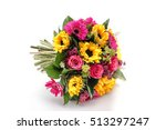 color wedding bouquet made of... | Shutterstock . vector #513297247