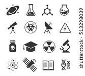 science icons. science of icons ... | Shutterstock . vector #513298039