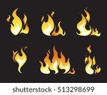 explosion animation frames. set ... | Shutterstock . vector #513298699