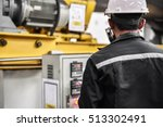 engineers in the back of the... | Shutterstock . vector #513302491