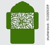 die cut envelope template...   Shutterstock .eps vector #513305359
