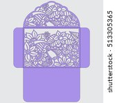 die cut envelope template...   Shutterstock .eps vector #513305365